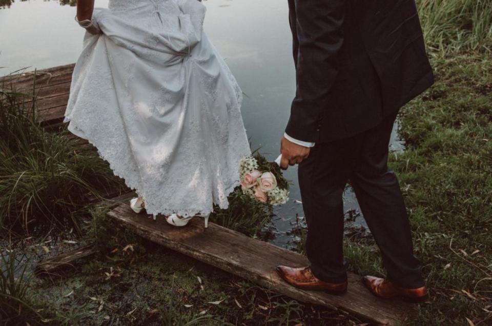 Hochzeitsreportage auf Landgut Stober. Anja und Martin.